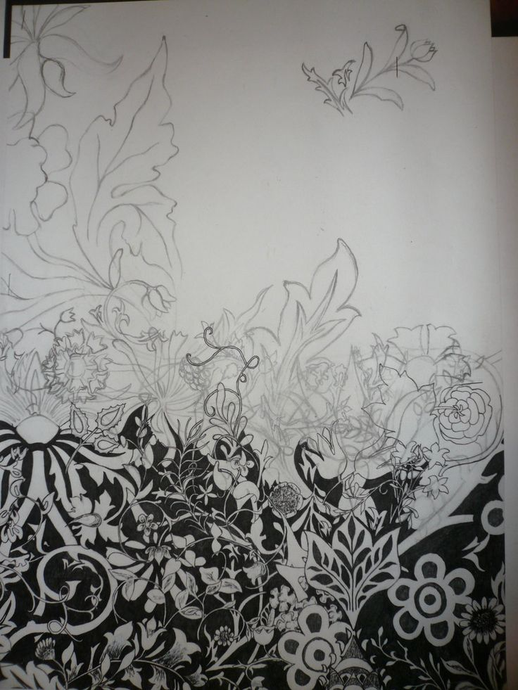 William Morris B+W unfinished by 9631-meaningless