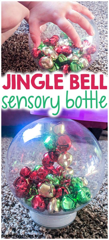 Jingle Bell Magnetic Sensory Bottle via @pixilatedskies