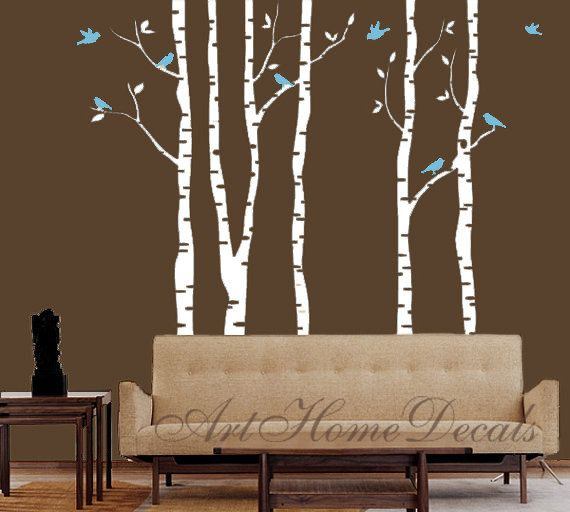 Tree Wall Decal Wall Sticker Birch Trees Wall Decal T1