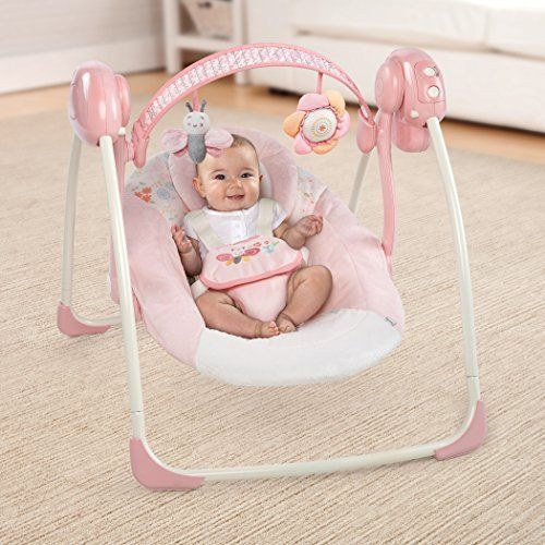 Baby Swing Infant Cradle Portable Sounds 6 Speed Folding Chair Girls Play Seat #BabySwing