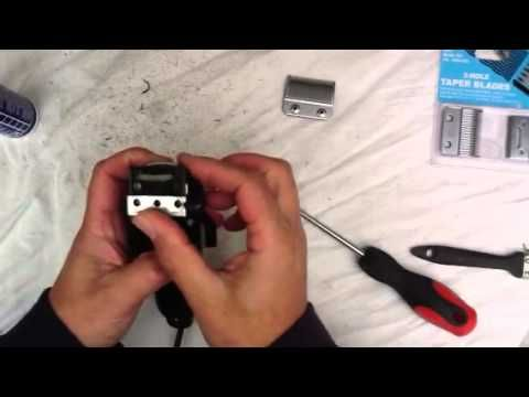 How to clean and change blades on Wahl taper clippers - YouTube