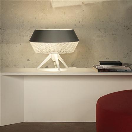 Karman Lighting Twist Lamp, Grey/White