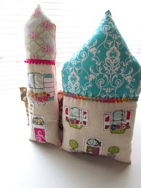 Home Pillows Flower Pillows House Shaped Pillows by Itsewbella, $28.00