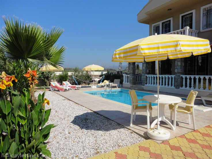 4 bedroom villa in Fethiye to rent from £420 pw, with a private pool. Also with jacuzzi, balcony/terrace, air con, TV and DVD.