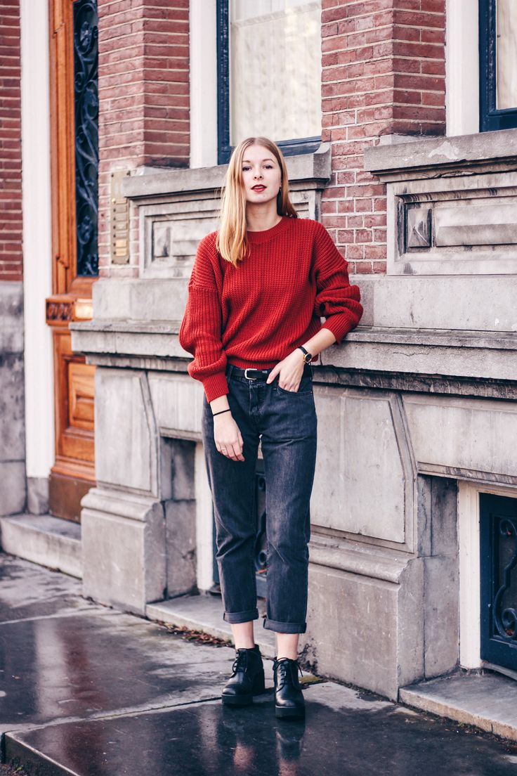 OUTFIT | Missy Empire Knit, OUTFIT | Biker Boots, Street Style, Fashion Inspiration and models off duty to inspire you what to wear. Fashion Blogger, Dutch, Amsterdam