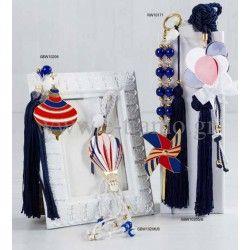 Μπομπονιέρες Πολυτελείας Βάπτισης Luxury Collection Μύλος, Ανεμόμυλος, Αερόστατο, Μπαλόνια, Σφούρα