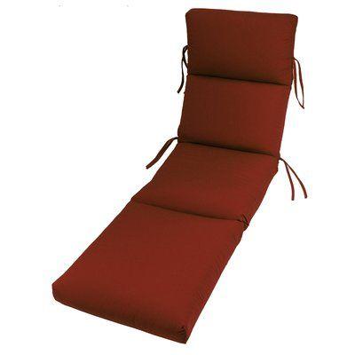 Beachcrest Home Outdoor Sunbrella Chaise Lounge Cushion Fabric: Terracotta