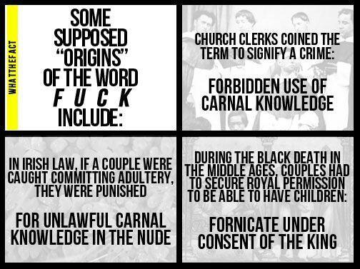 Origion Of The Word Fuck 106