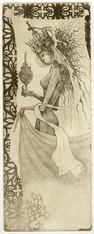 The Iona tarot by Giona Fiochi  l'imperatrice