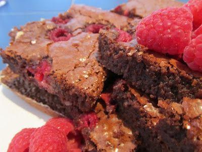 Brownies de framboesa ao estilo de Londres