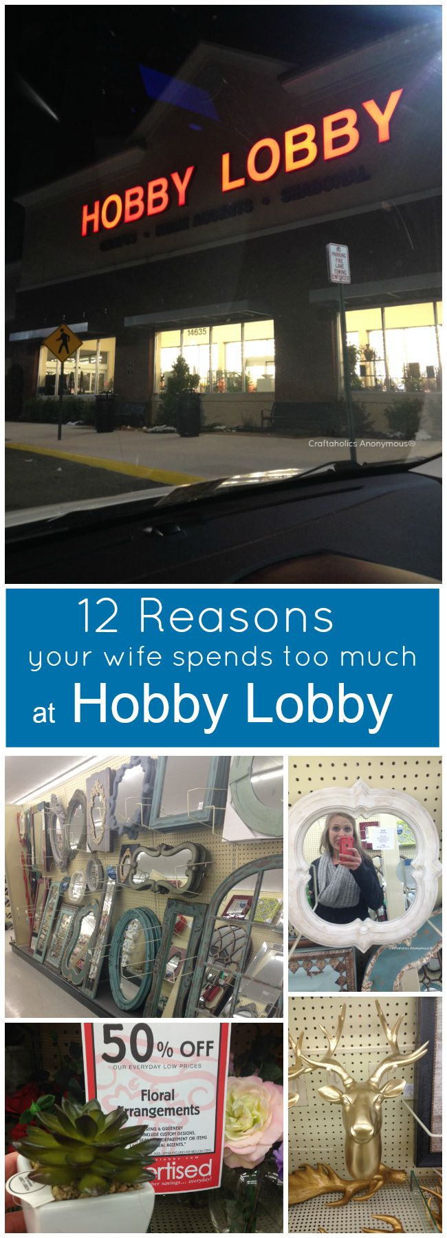 12 reasons your wife spends too much at hobby lobby || Hilarious but so TRUE!