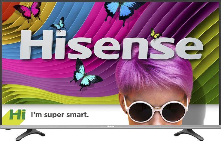"Hisense - 50"" Class (49.5"" Diag.) - LED - 2160p - Smart - 4K Ultra HD TV with High Dynamic Range - Black"