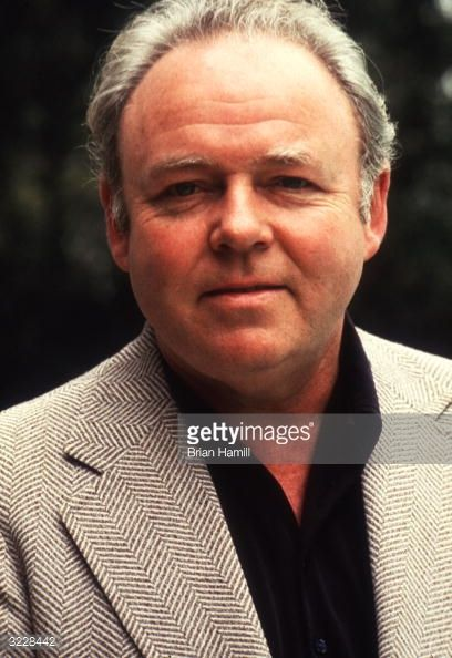 carroll o'connor getty images | Headshot of American actor Carroll O'Connor smiling outdoors.... News ...