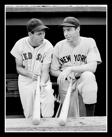 Ted Williams & Joe Dimaggio. Red Sox & Yankees. 2 of the greatestDimaggio 1941, Games, Boston Red, Joe Dimaggio, Red Sox, Redsox, Vintage Sports, York Yankes, Ted Williams