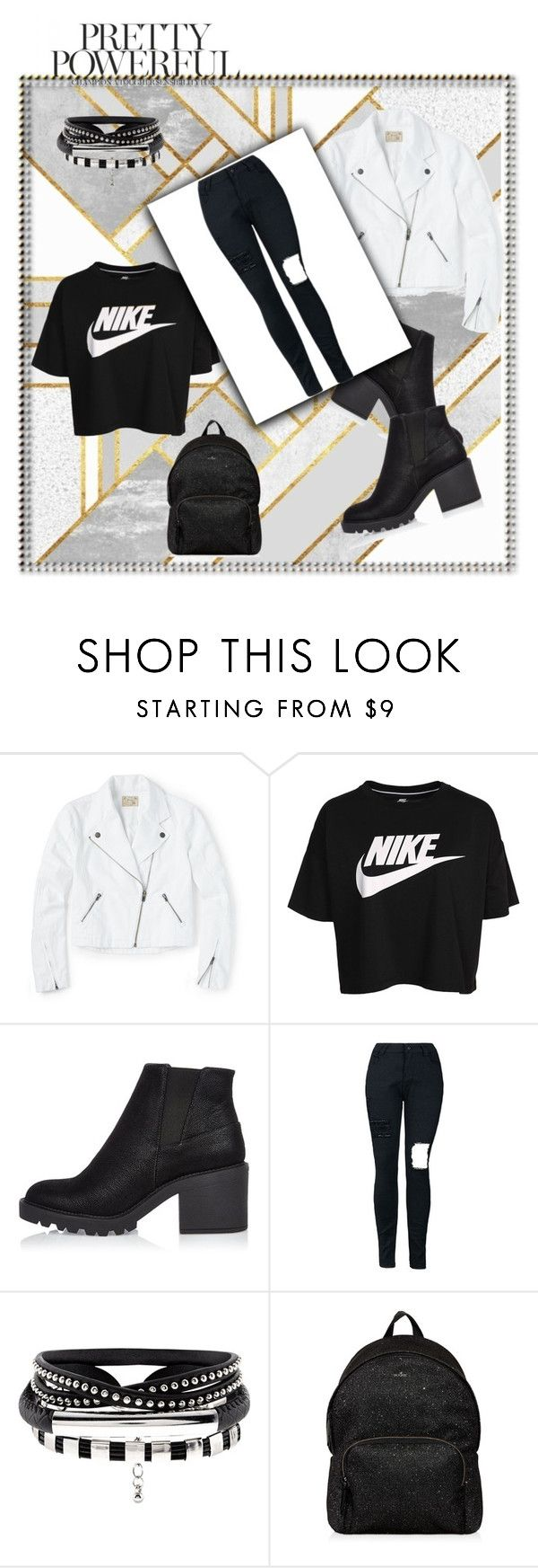 """""""Nike"""" by angelaxblackbear ❤ liked on Polyvore featuring NIKE, River Island and Hogan"""