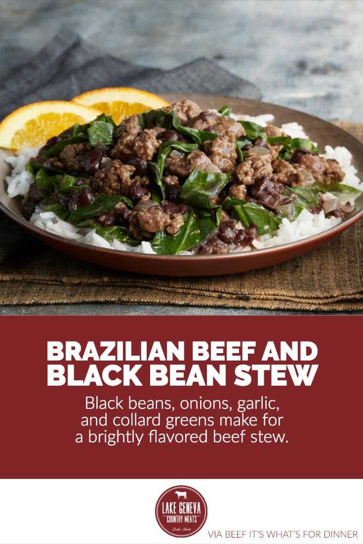 Brazilian Beef And Black Bean Stew Recipe Black Bean Stew Bean Stew Stew Recipes