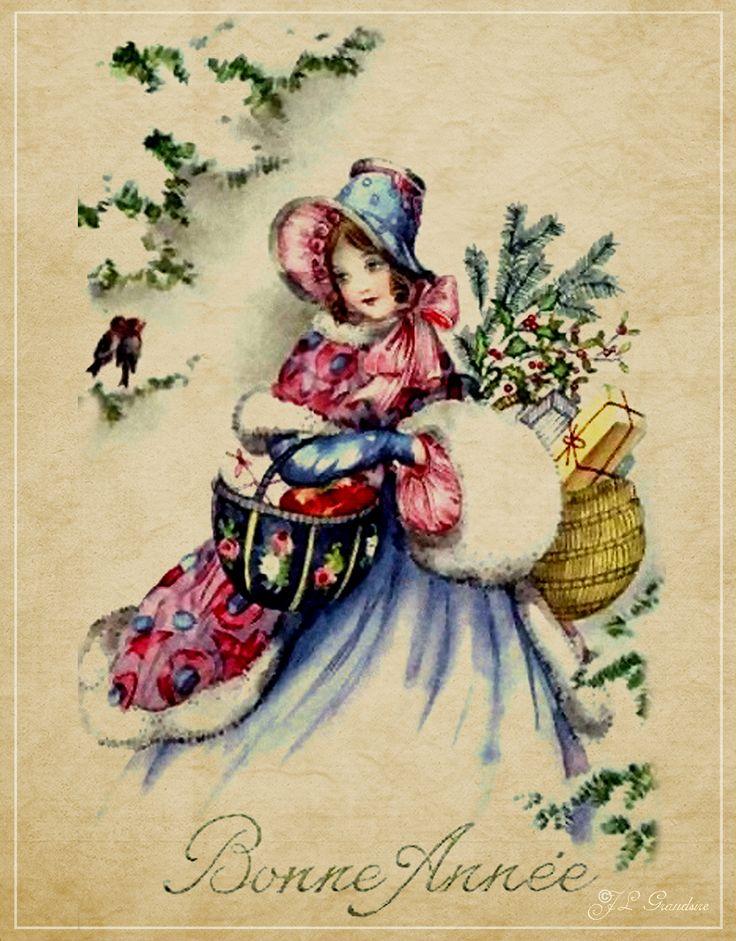 старинные французские открытки на новый год свое время была