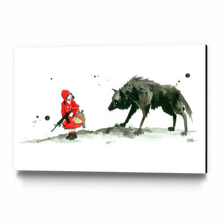 "Red Riding Hood By Lora Zombie $74.99 Product Details — Printed on Canvas  — Stretched and Finished w/2"" Black Edge  — Ships Ready-to-Hang  — Arrives w/Easy-to-Use Hanging Kit  Materials Canvas Measurements Extends 2"" off wall Origin Canada"