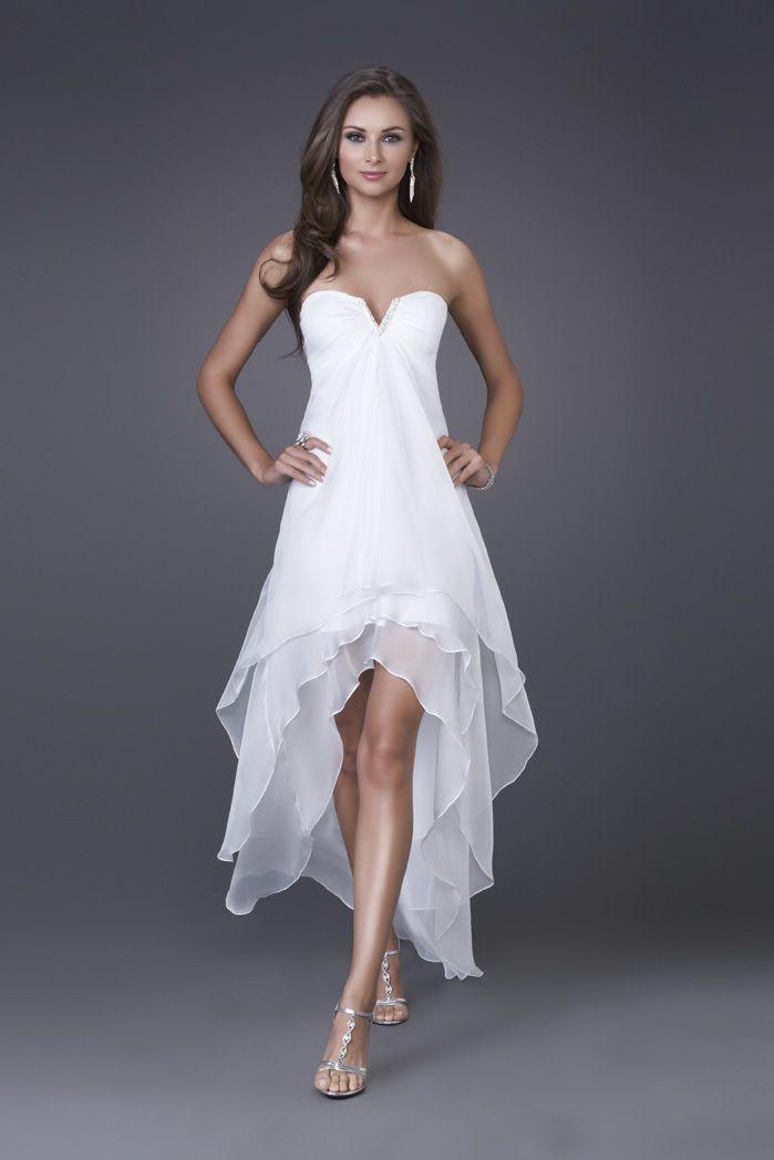 hi-low hem wedding dress -ZZKKO