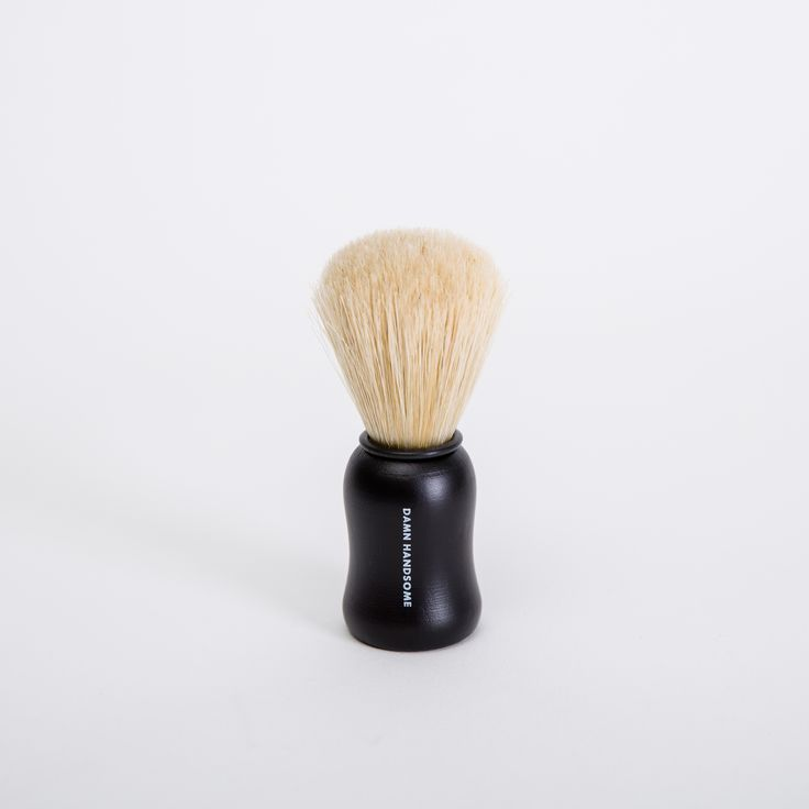 Men's Society Boar Bristle Shave Brush: Look Damn Handsome with our 100% natural boar bristle men's shaving brush. This luxurious shave brush is handmade using only 100% natural boar bristles to create a thick lather for the perfect wet shave.  Its long firm bristles gently exfoliating and massaging your skin, whilst creating the perfect base for a super close shave.