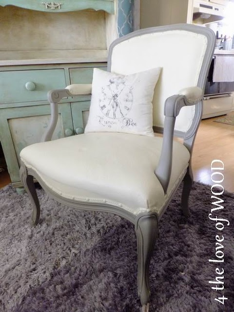 4 the love of wood: Paintings Furniture, Decor Ideas, Wood Paintings, Paintings Furnatur, Annie Sloan, Paintings Upholstery, Chalk Paintings, French Chairs, Paintings Fabrics