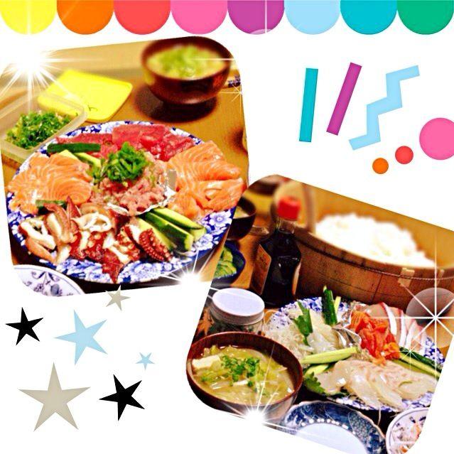 久々にお寿司♡ 美味しいけど、ママめっちゃネタ買ってきてくれてたからお腹ポンポンや^^; - 27件のもぐもぐ - まき♪まき♪手巻き寿司とキャベツ味噌汁 by am18