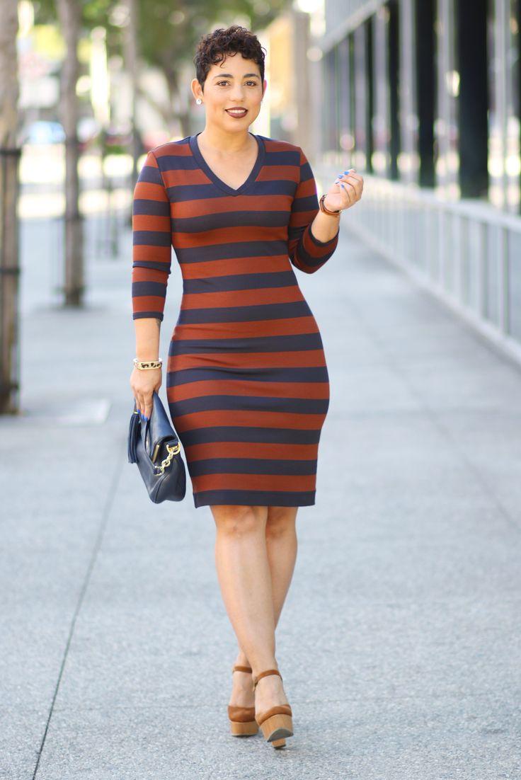 DIY V-NECK STRIPED DRESS - Mimi G Style