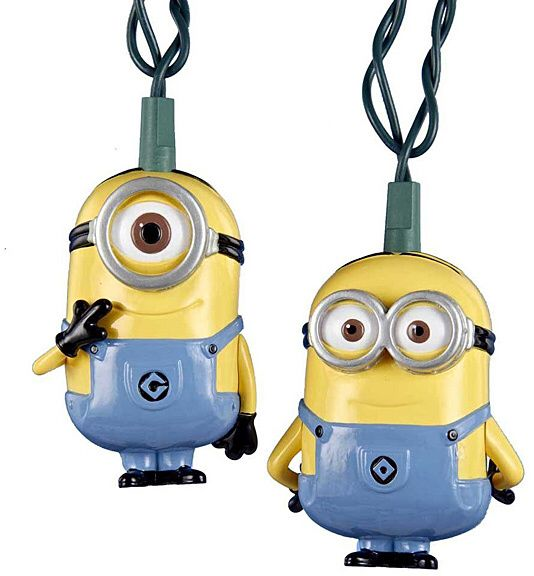 CUTE Despicable Me Minions String Lights - Great for kids teens  students bedroom home office decorating and adding extra lighting.