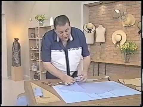 Puntos y Puntadas 67. Camisa de hombre - 3. Moldería. Hermenegildo Zampar. - YouTube
