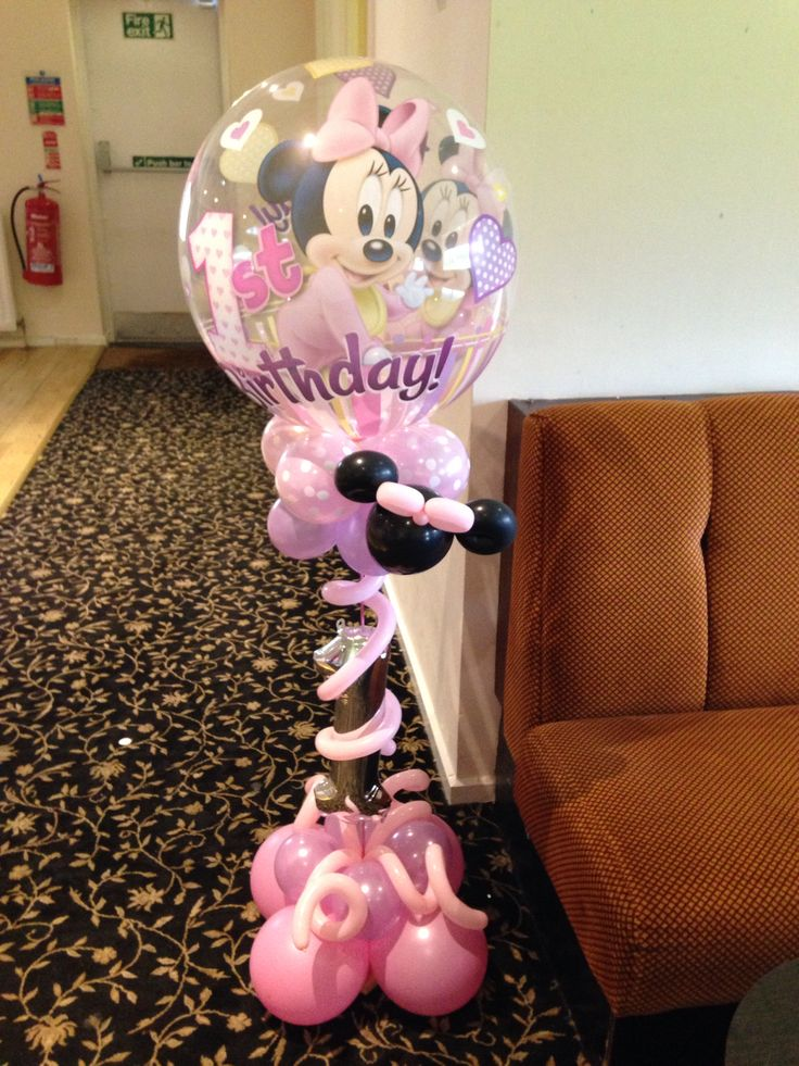 Minnie's first birthday display