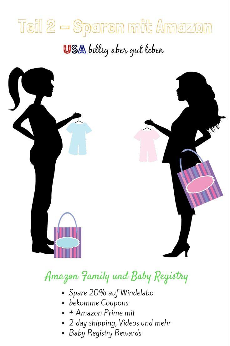 Wenn du in den USA lebst und ein Baby hast, oder erwartest, ist dieser Artikel interessant für dich. Amazon bietet dir tolle Möglichkeiten an zu sparen und auch zusätzlich eine Wunschliste anzulegen. Dies macht es auch einfach für deutsche Familienmitglieder Geschenke für dein Baby zu kaufen. Amazon bietet dir hier einige Extras, die du dir nicht entgehen lassen solltest. http://usabilligabergutleben.blogspot.com/2015/07/teil-2-sparen-mit-amazon-amazon-family.html ...