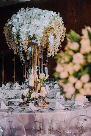 Нежные композиции на столы гостей
