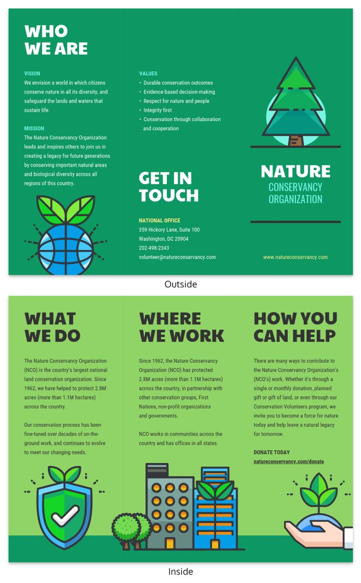 Nature Tri Fold Brochure Template Venngage within