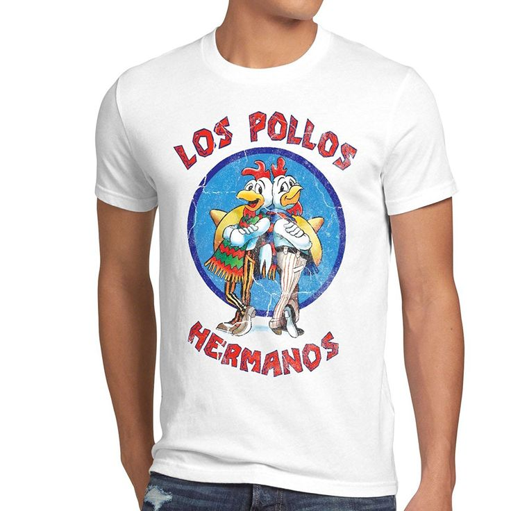 style3 Los Pollos T-Shirt da uomo: Amazon.it: Abbigliamento
