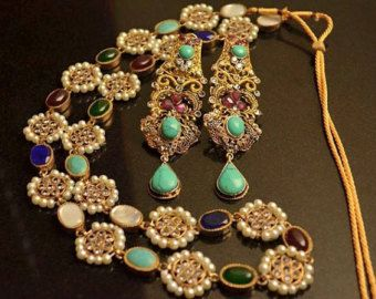 Indian Jewellery Gold Plated Rani Haar with by KAJewelleryEmporium