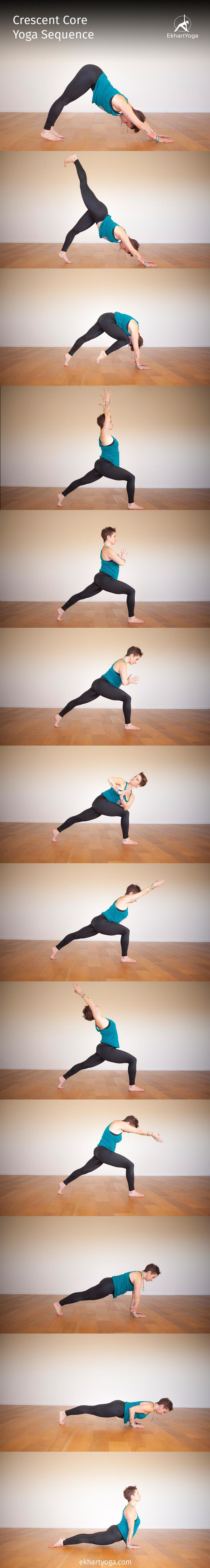 Crescent Core Yoga Sequence from Jennilee Toner on EkahrtYoga.com