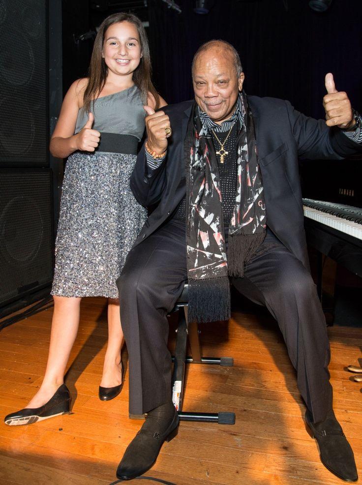 Emily Bear And Quincy Jones | GRAMMY.com: Quincy Jones, Photo