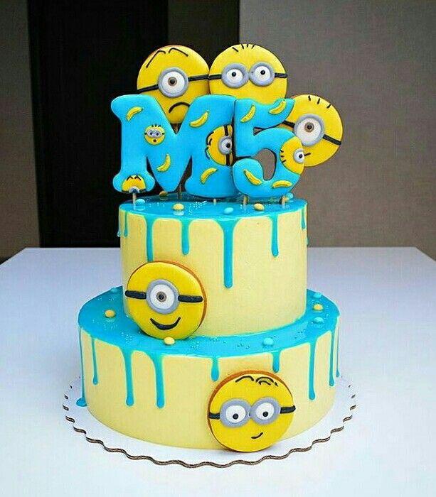 Divertida tarta para fiesta de cumpleaños Minions