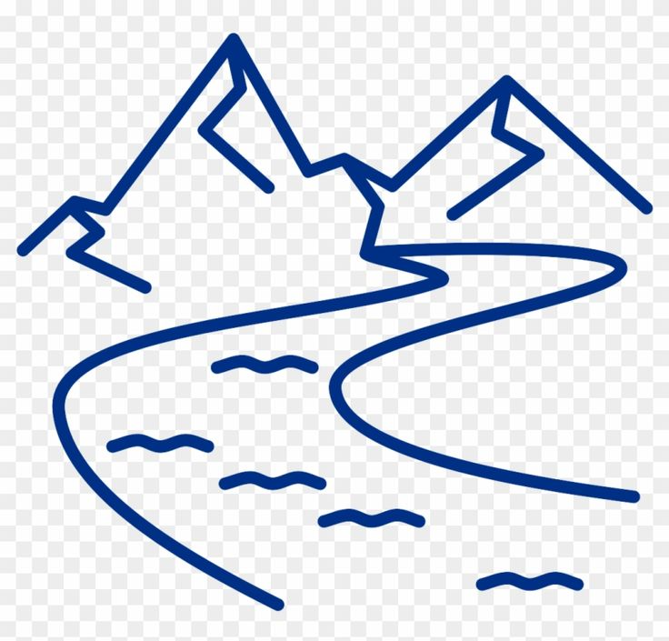 Pin By Tyler Goucher On Stencil River Symbol Clip Art Mountain River