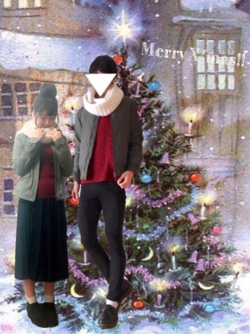 メリークリスマス!!🎄🎁 カーキのMA-1と赤ニットを使ってクリスマスらしさをだしてます!! そ