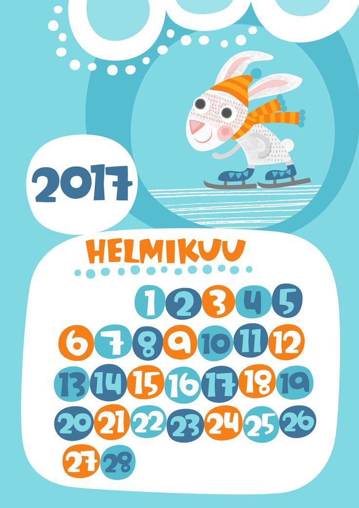 Helmikuu 2017 | free | printable | pattern | lasten | lapset | askartelu | kalenteri | vuosikalenteri | seinäkalenteri | tulostettava | paperi | koti | sisustus | kids | children | crafts | home | paper | calendar | Pikku Kakkonen