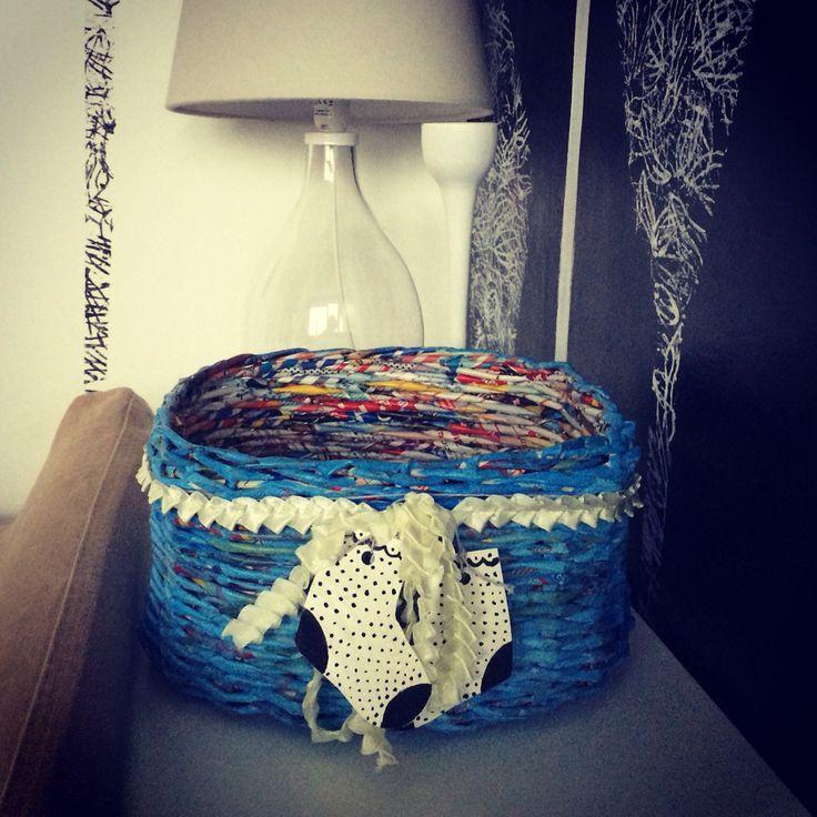 Blue basket for little boy :)