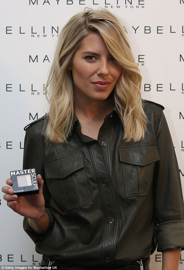 Mollie King is unveiled as Maybelline's new UK ambassador #dailymail