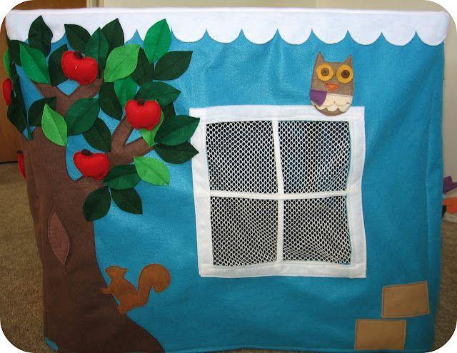 homemade by jill: felt playhouse  TUTORIAL