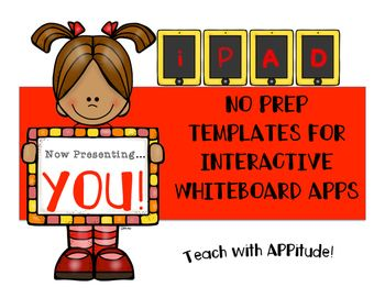 Need some guidance on how to use that INTERACTIVE WHITEBOARD APP on your iPad?  These EASY/NO PREP templates are a MUST for classrooms with devices! Using an interactive whiteboard app in any classroom is a MUST for teachers with iPads.  There are many different apps out there that could be used.