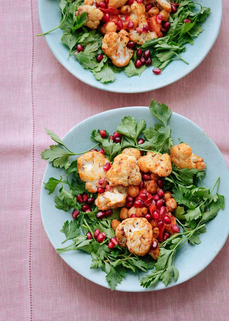 Warm Spiced Cauliflower and Chickpea Salad With Pomegranate Seeds | Nigella's Recipes | Nigella Lawson