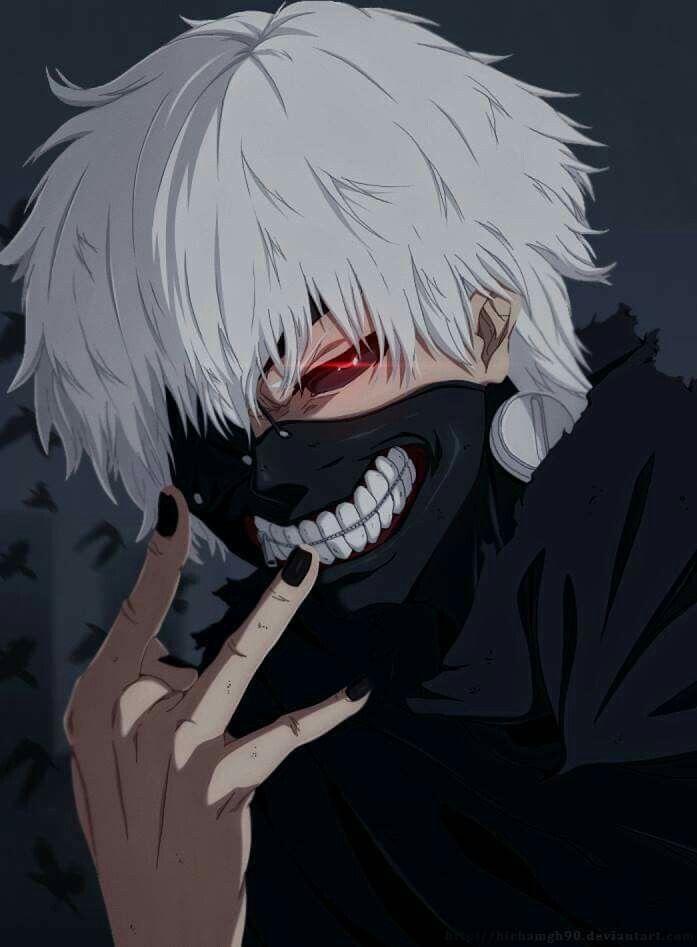 Boy cuffs kagune ken kaneki red eyes white hair. Pin on Tokyo ghoul