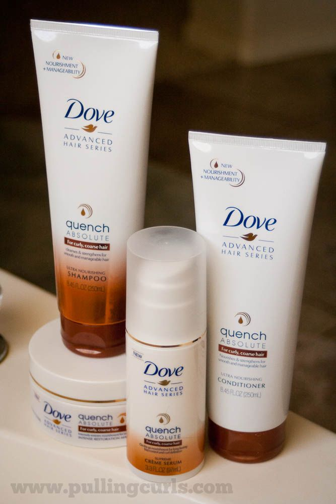Check out the Dove Quench Absolute Collection to take care of ALL your curly hairs!