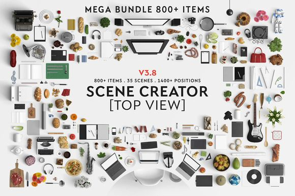Scene creator [Top view] by Qeaql on Creative Market