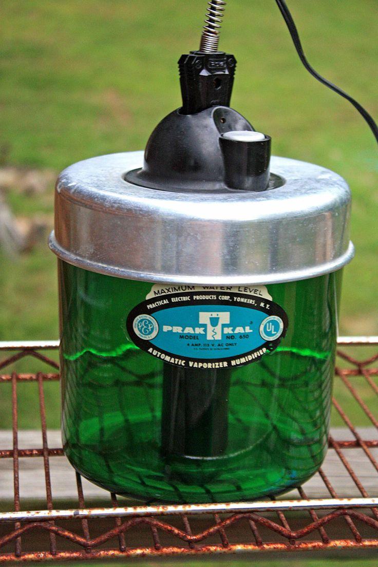 Vintage 1940s 1950s Glass Humidifier Prak T Kal Automatic